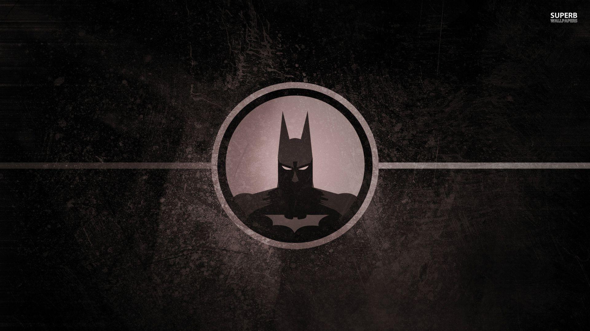 Batman cool wallpaper head logo windows mode - Cool logo wallpapers ...