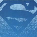 Blue superman logo