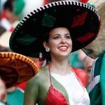 Mexican girl flag