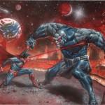 Superman against darkseid