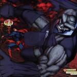 Superman beats darkseid
