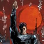 Superman black white costume