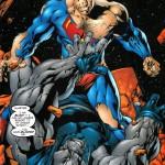 Superman fighting darkseid