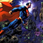 Superman flying background
