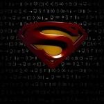 Superman logo black background