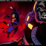 Superman punches darkseid