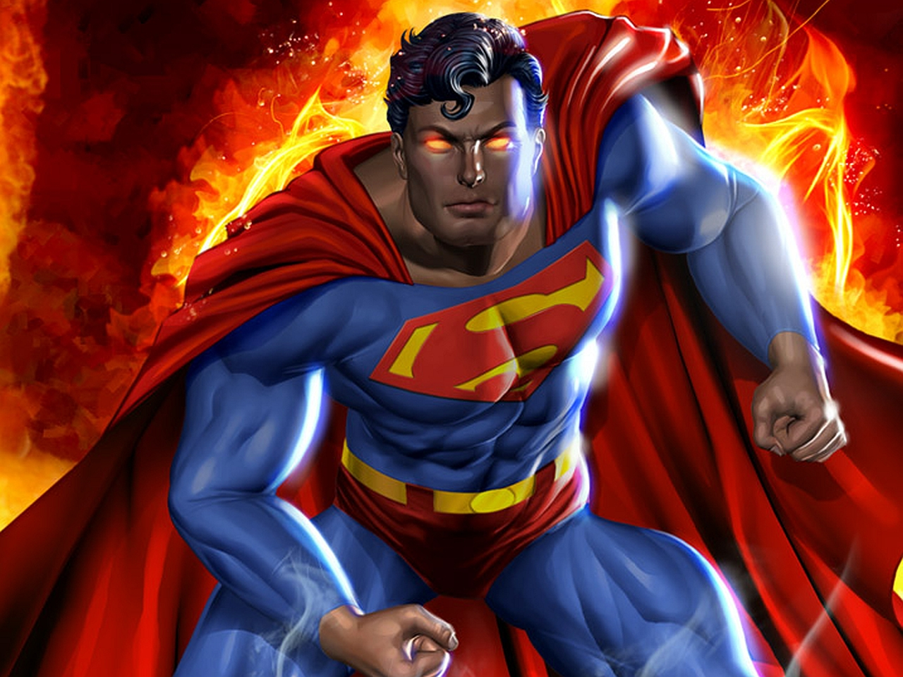 superman red eyes   windows mode