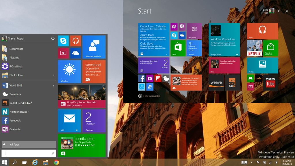 Windows 10 OS Preview
