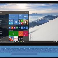 Windows 10 on laptop