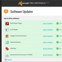 Avast antivirus software updater