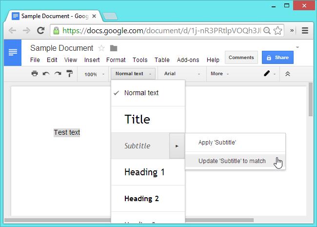 Google-Docs-Change-Text - Windows Mode