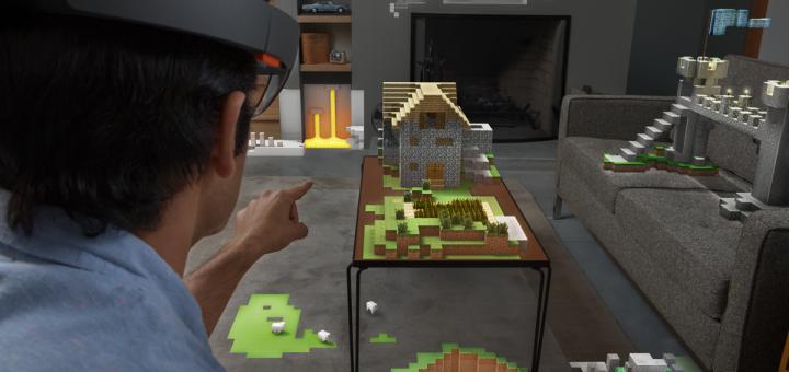 Hololens minecraft game