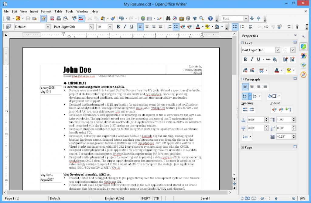 OpenOffice For Windows 10