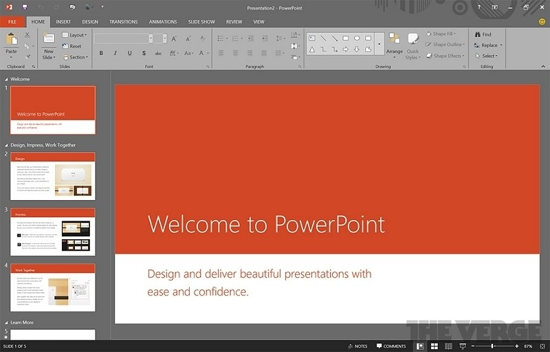 powerpoint 2016 on windows 10 windows mode