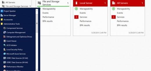 Windows 10 Server Dashboard