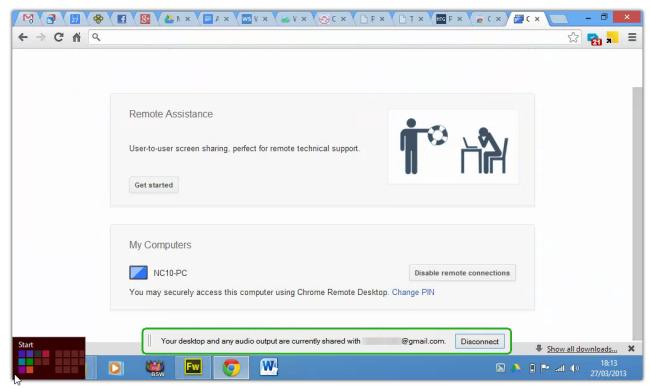 Chrome-Remote-Desktop-For-Windows-8 - Windows Mode