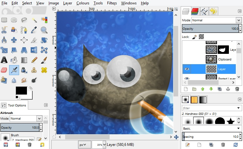 Gimp on windows 10 windows mode for Online drawing editor
