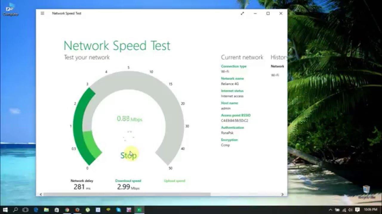 Network speed test install