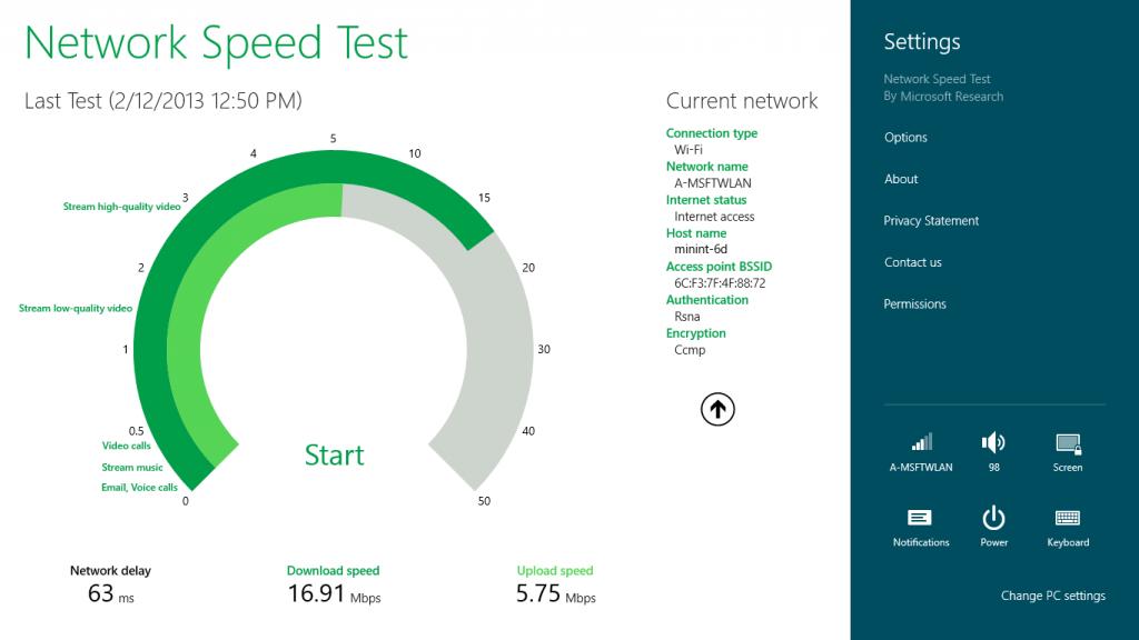 Windows 10 Network Speed Test