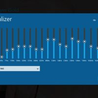 Media player gold equalizer settings