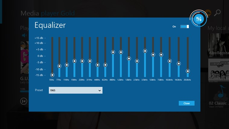 Media Player Gold Equalizer Settings Windows Mode