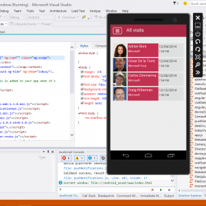 Visual studio 2015 code phone