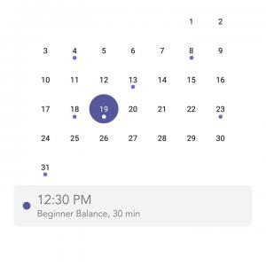 Yoga studio schedule