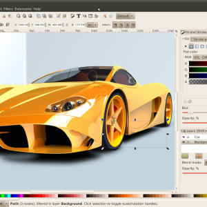 Inkscape ferrari layers edit