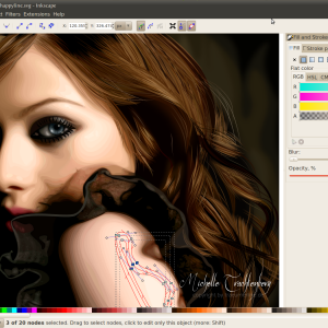 Inkscape draw female vector
