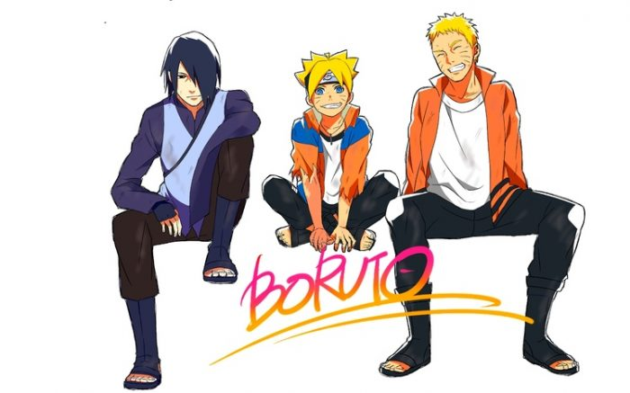 Boruto with dad and sasuke