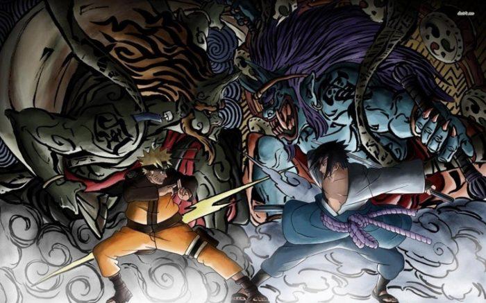 Classic sasuke vs naruto