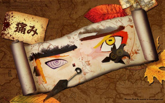 Naruto vs pain eyes