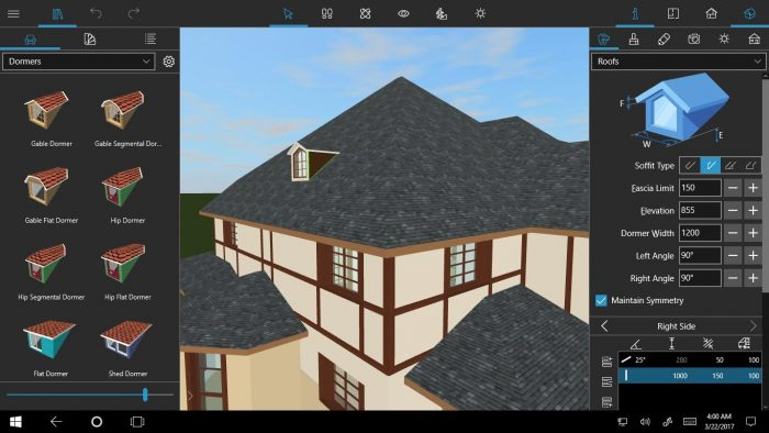 Build roof livehome3dpro win10