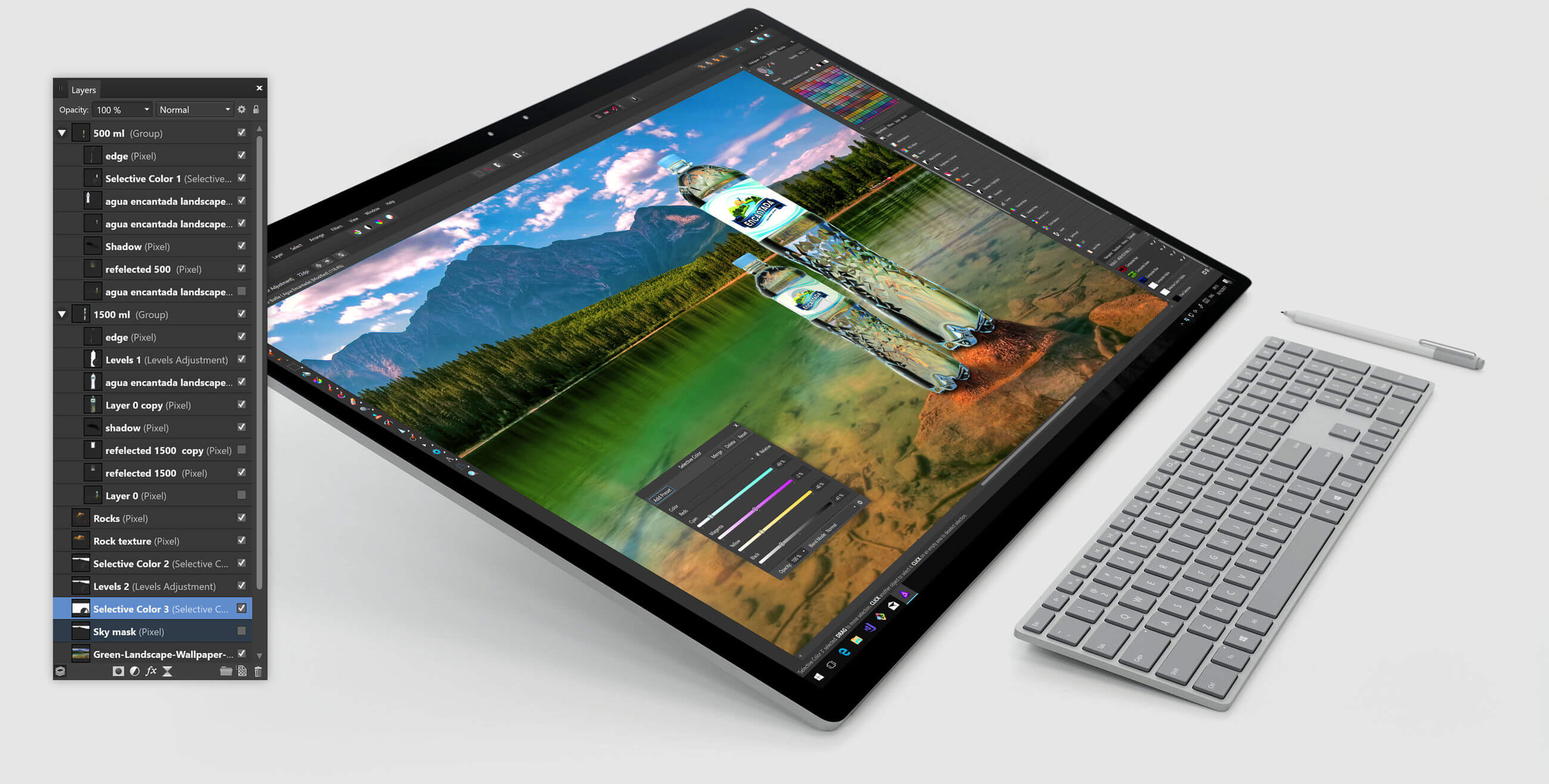 Touch-Screen-Affinity-Photo - Windows Mode