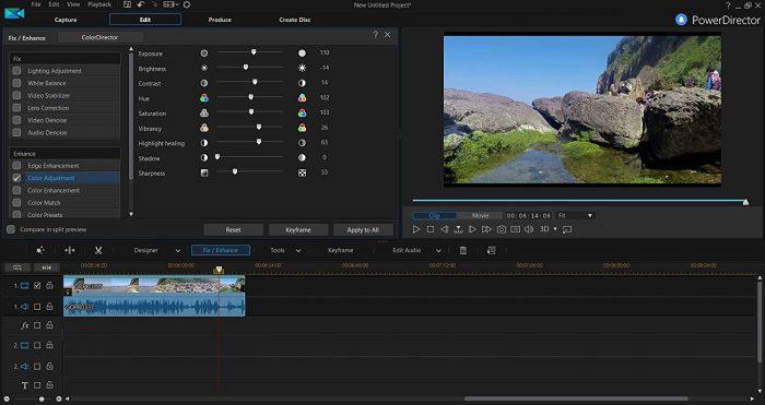 Edit video color