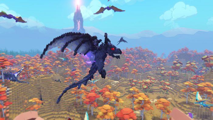 Flying dinosaur in game