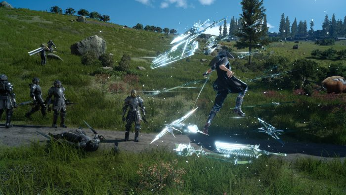 Noctis attacking bad guys