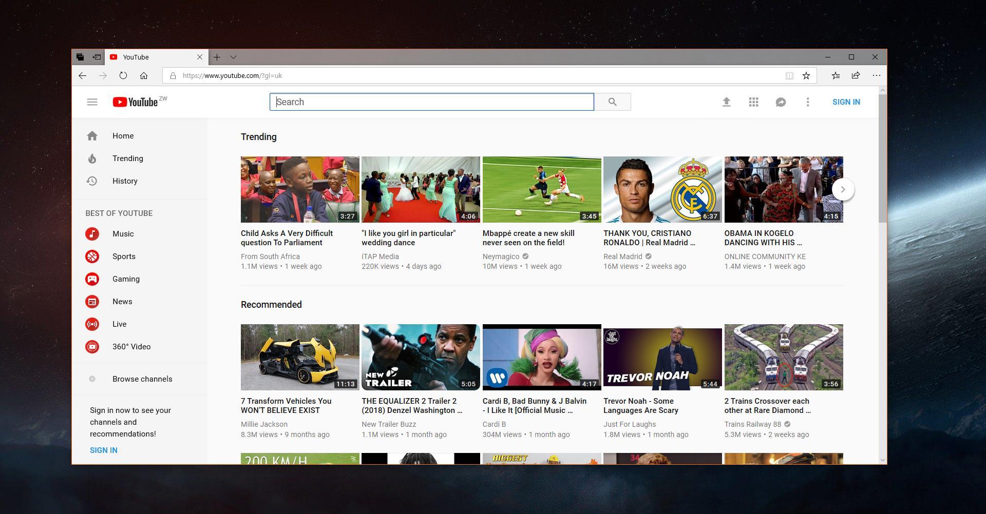download youtube microsoft