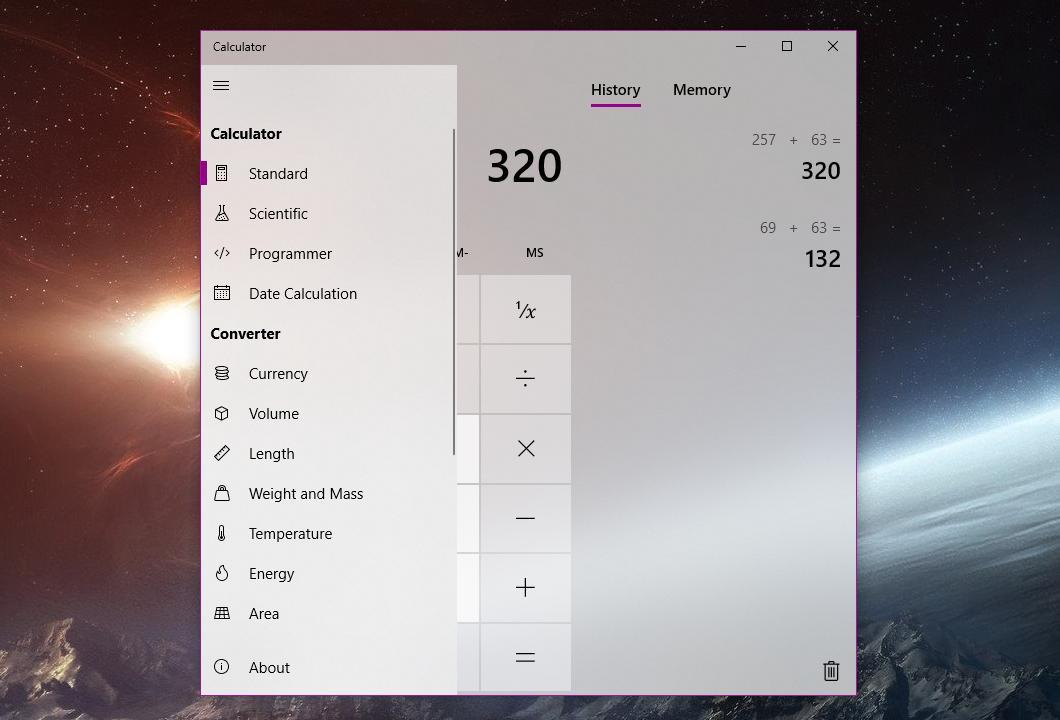 microsoft silently refines the windows 10 calculator in latest
