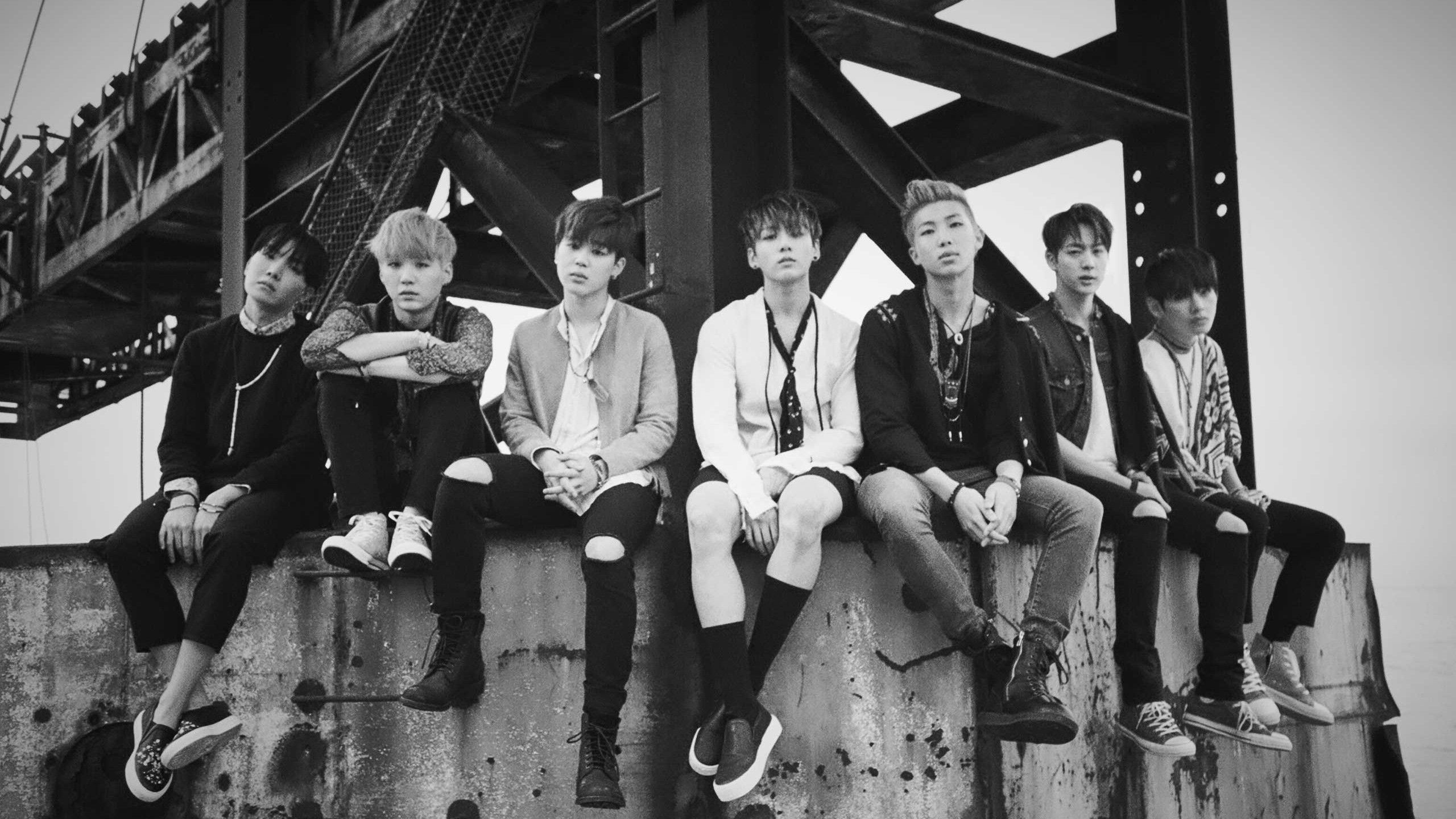 bts black white wallpaper