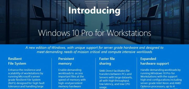 What is windows 10 pro for workstations inforgraphic