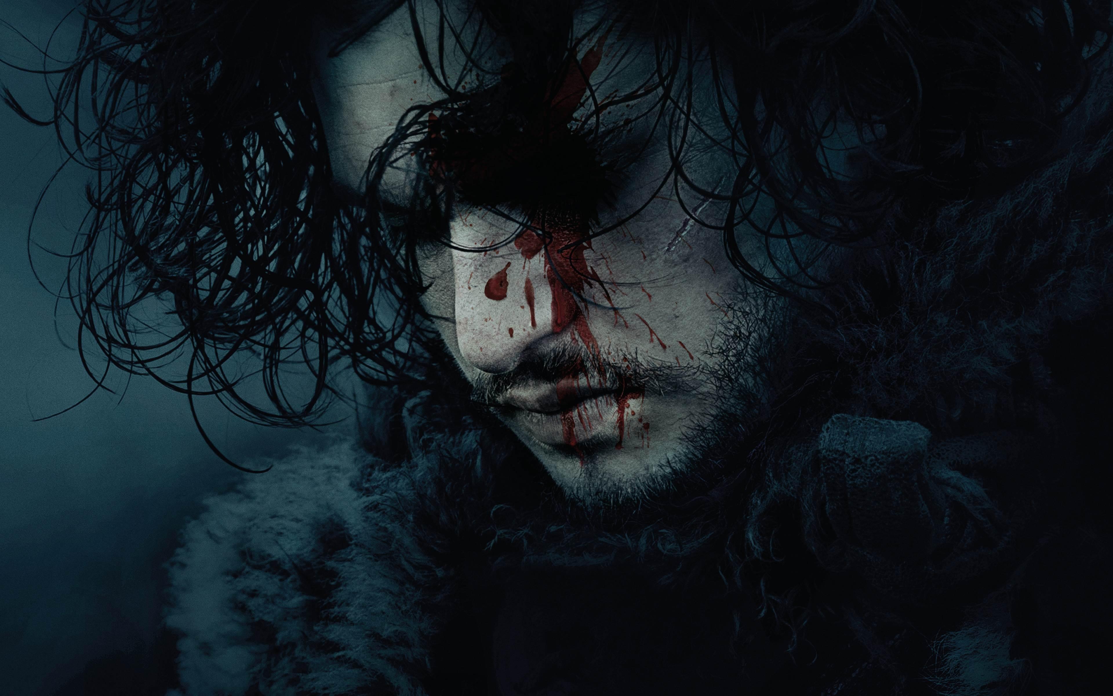 Jon Snow Dead Blood Wallpaper Windows Mode