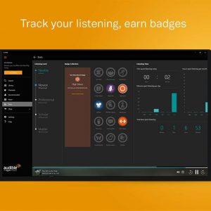 Track listening badges