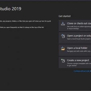 Dark theme vs studio 2019