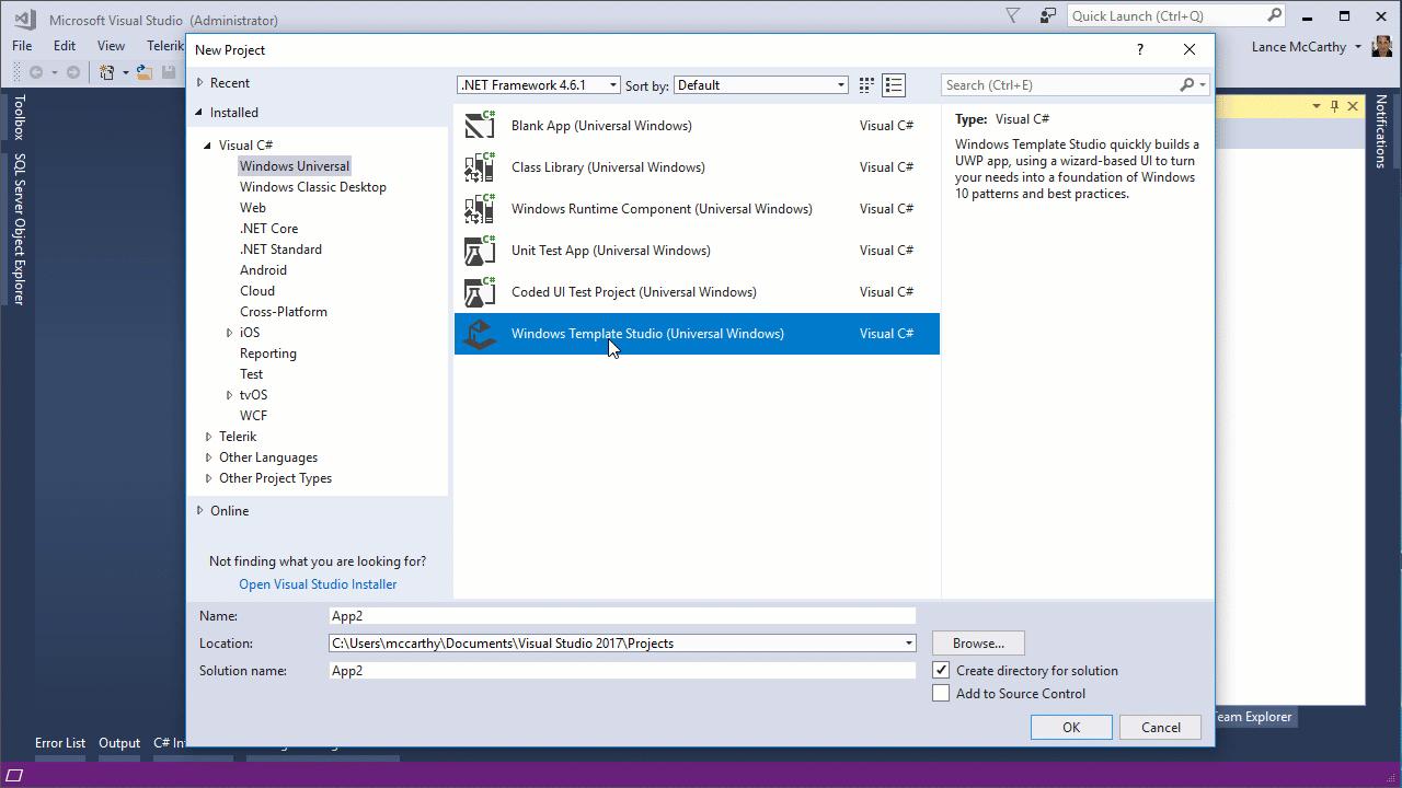 Download Windows Template Studio For Visual Studio - Windows