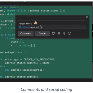 Social coding with comments vs2019
