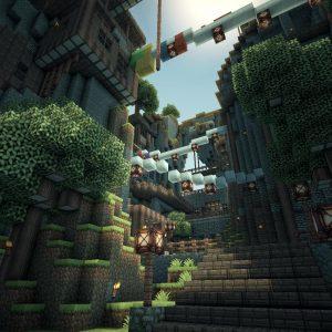 Minecraft beautiful world