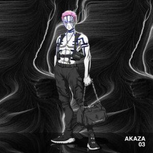 Akaza demon dressed cool fashion