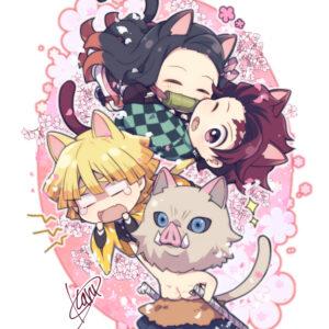 Chibi main characters