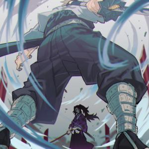 Kokushibou sanemi fight